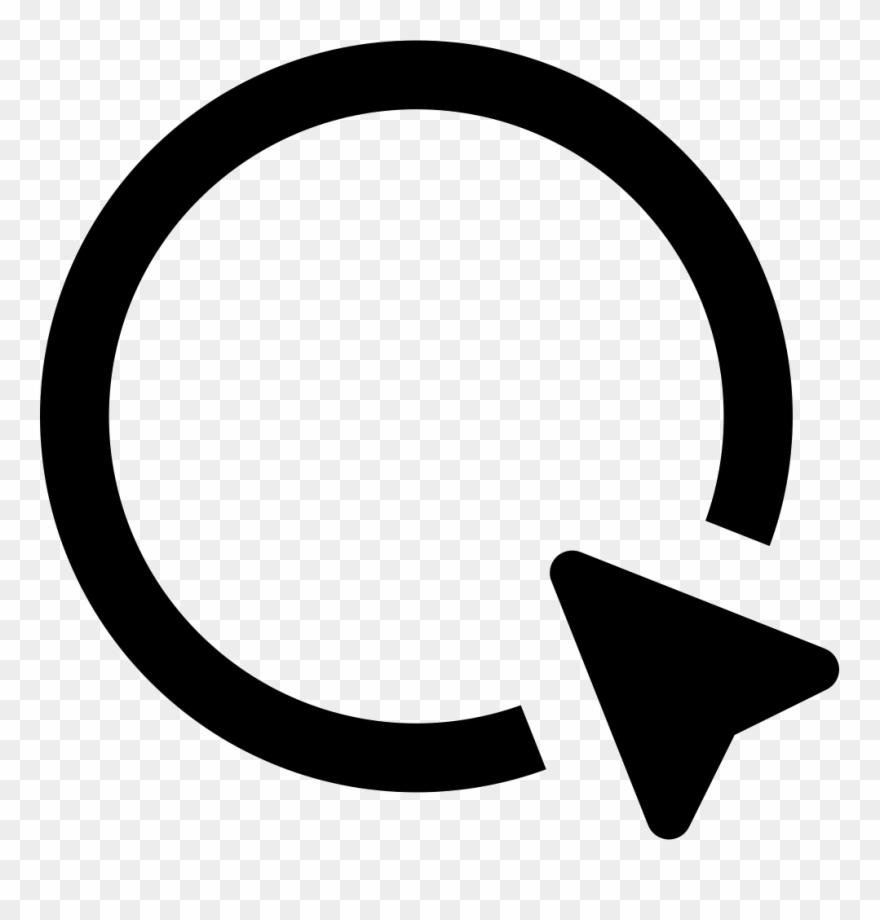 Clipart Royalty Free Stock And Cursor Arrow Svg - Circle