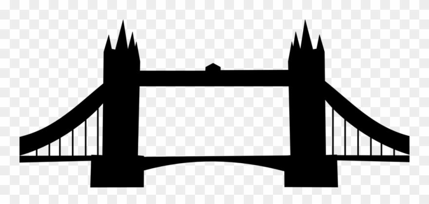 Clipart Train Bridge London Bridge Silhouette Png Transparent Png