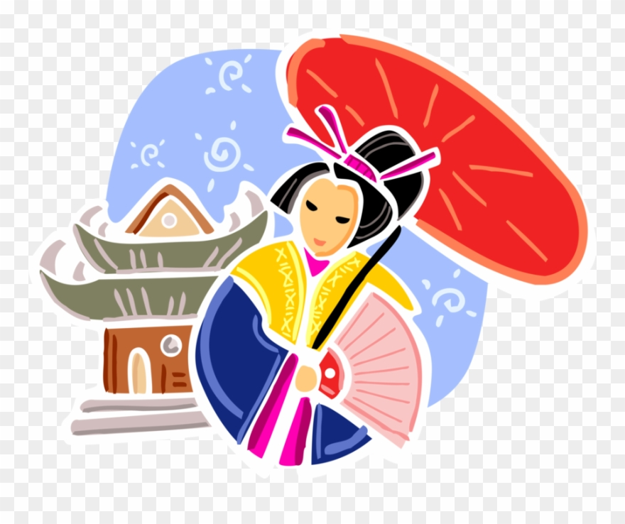 Japan Clipart Yukata - Japanese Family Clipart - Png Download - Full Size  Clipart (#4049239) - PinClipart