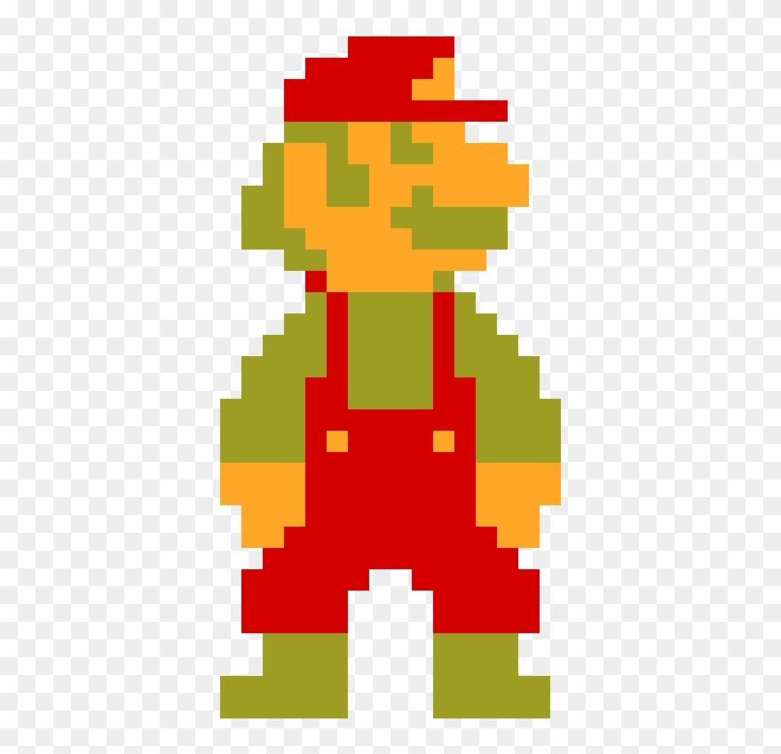 Big 8bit Mario Big Mario 8 Bit Clipart 519012 Pinclipart