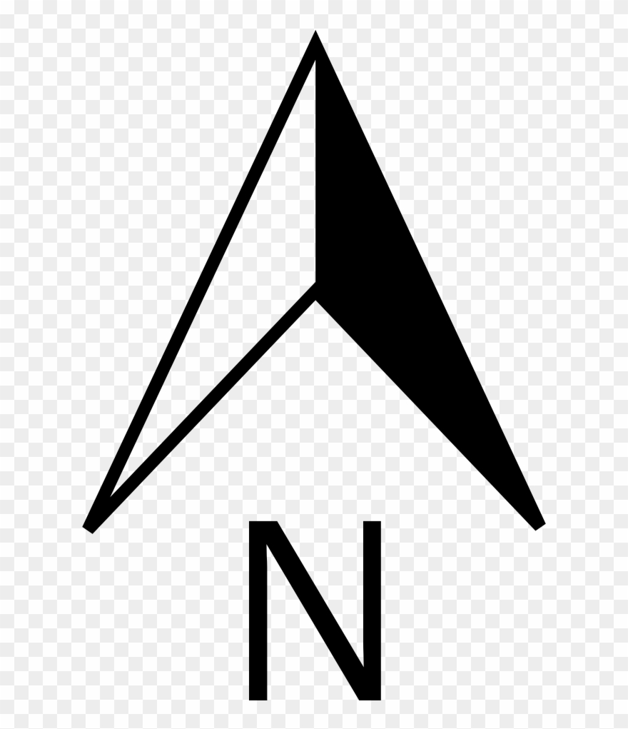 File North Pointer Svg Wikimedia Commons Arrow Clip - North Arrow Png Transparent Png