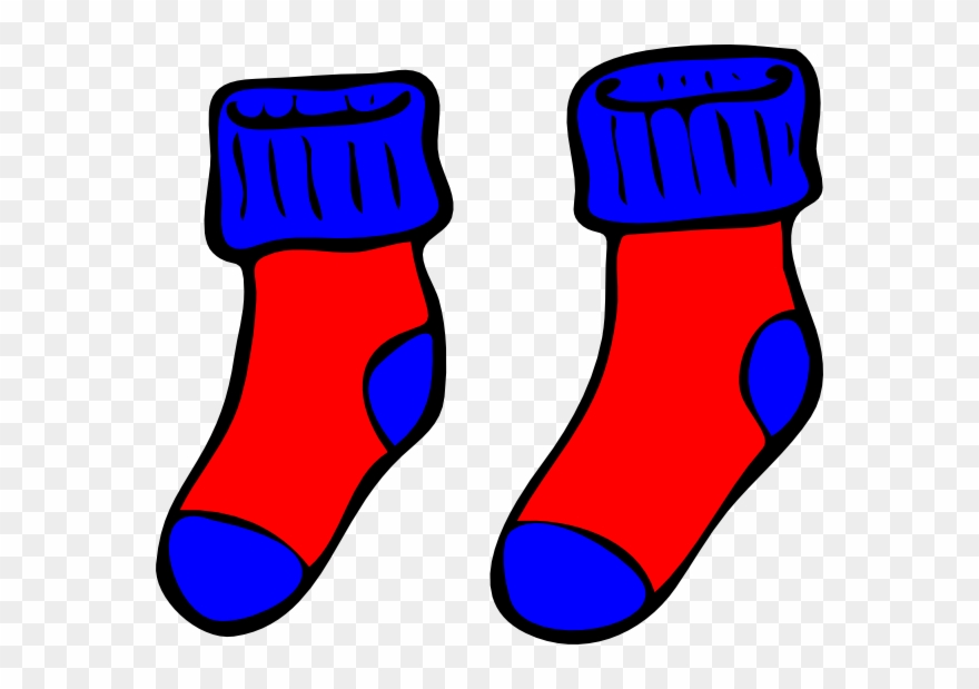 3529ddb11761 Sock Clip Boy Clipart - Blue And Red Socks Clipart - Png Download ...