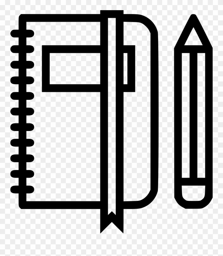 Book Folder Pen Pencil Notebook Education Log Office Icon Book And