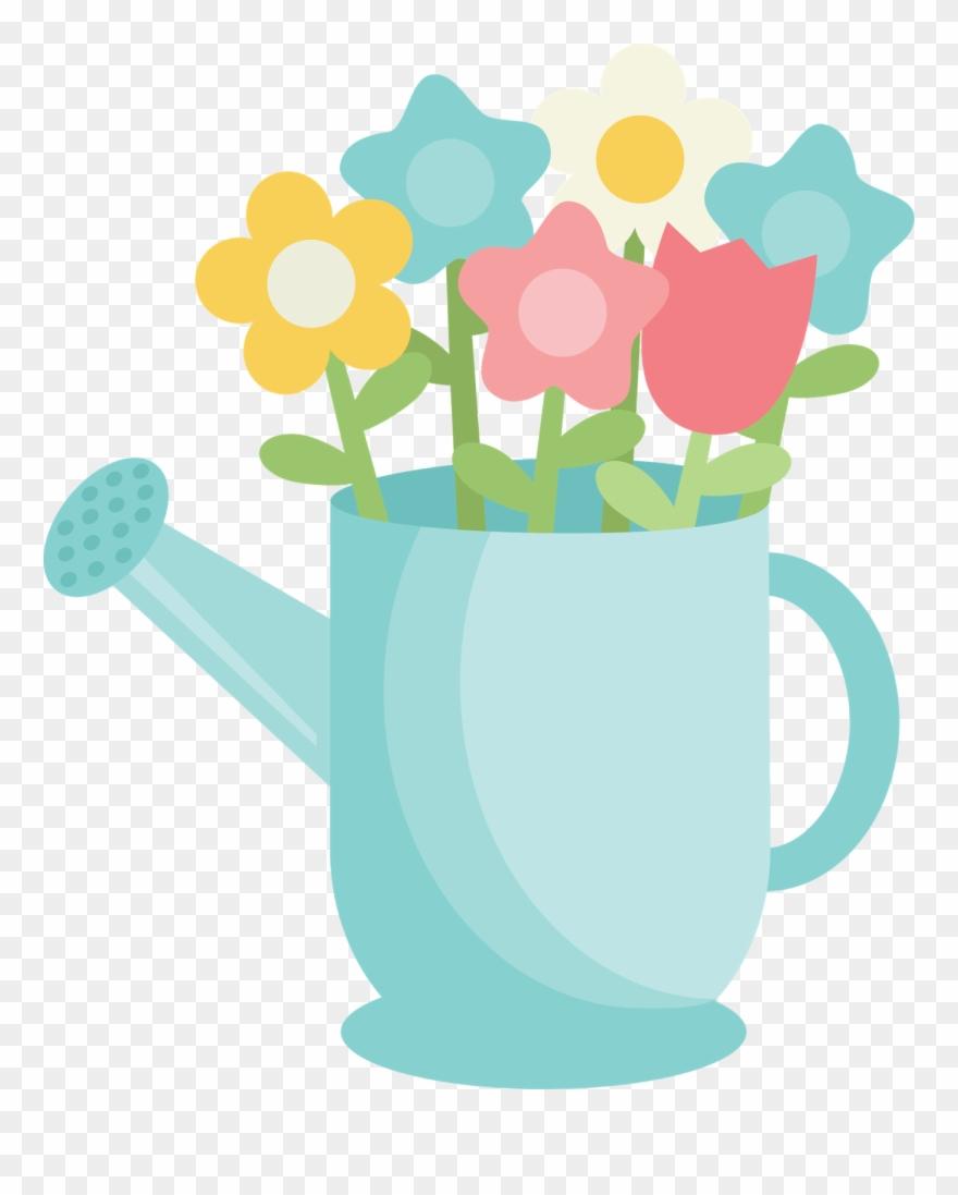April cute. Saturday watering can cartoon