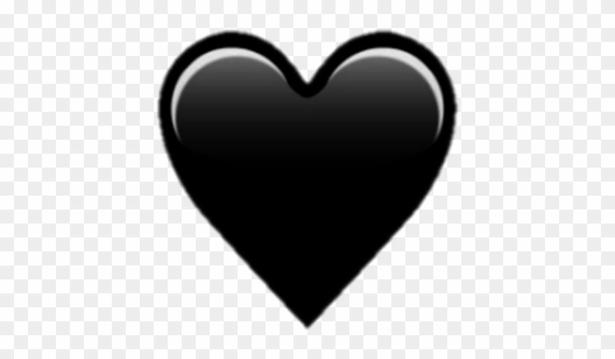 Heart Hearts Black Emoji Emojis Tumblr Black Heart On White