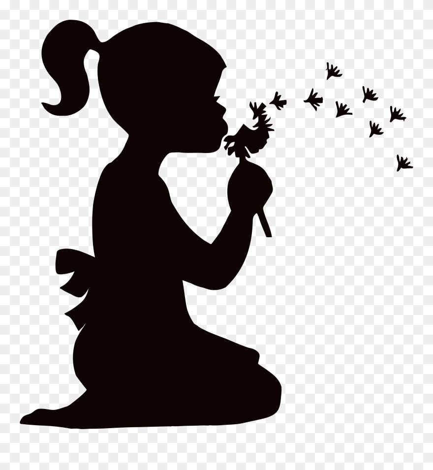 Clipart Little Girl Silhouette Png Download 5204362 Pinclipart