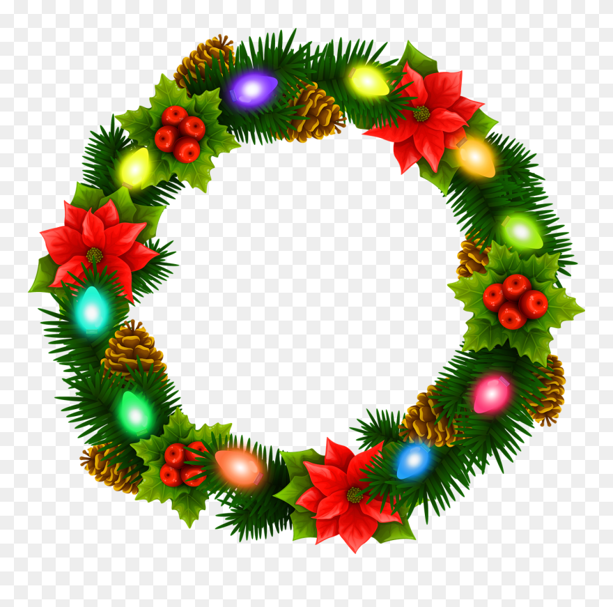 Christmas Wreath Garland Free Content Clip Art - Card - Xmas Cliparts  Transparent PNG