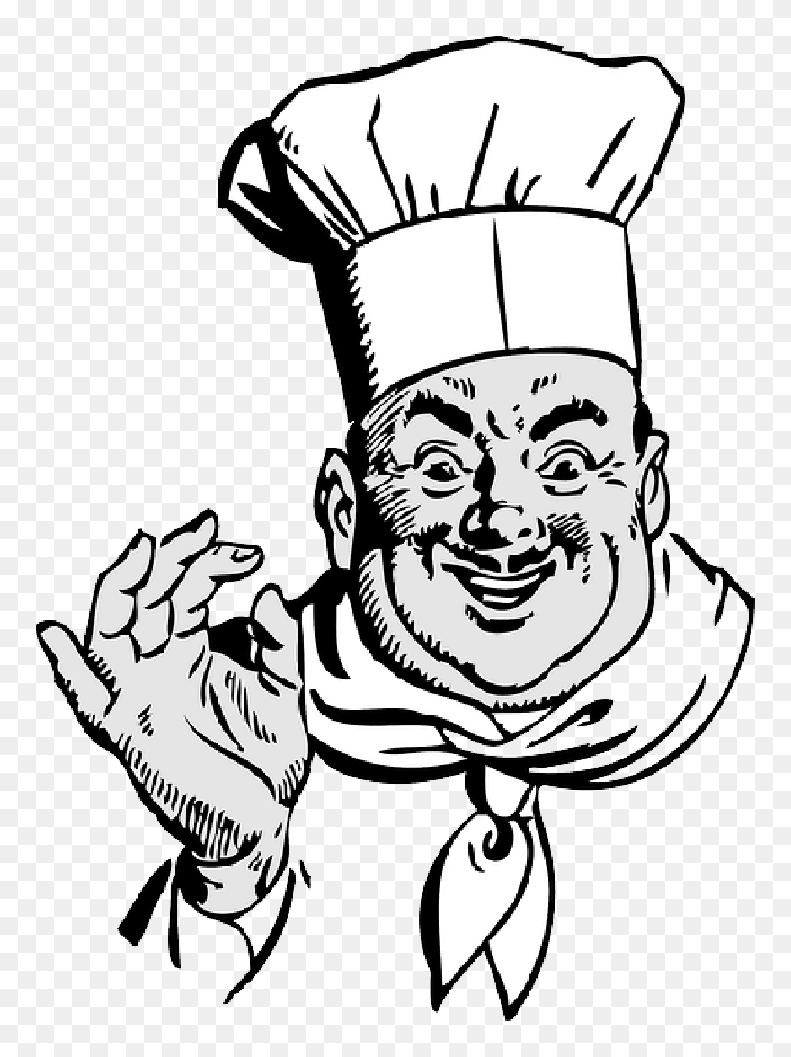 Cooking Clipart Black And White Cooking Black And Italian Chef Png Download 5212062 Pinclipart