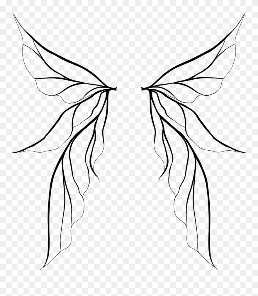 Cliparts For Free Download Fairy Clipart Outline And Fairy Wing Vector Png Transparent Png 5213131 Pinclipart