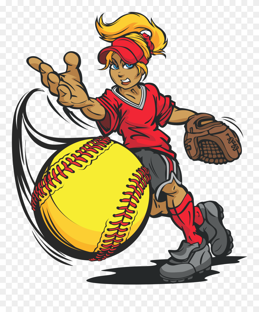 Transparent Softball Cartoon, Picture - Clipart Softball Pitching - Png Download (#5214739) - PinClipart