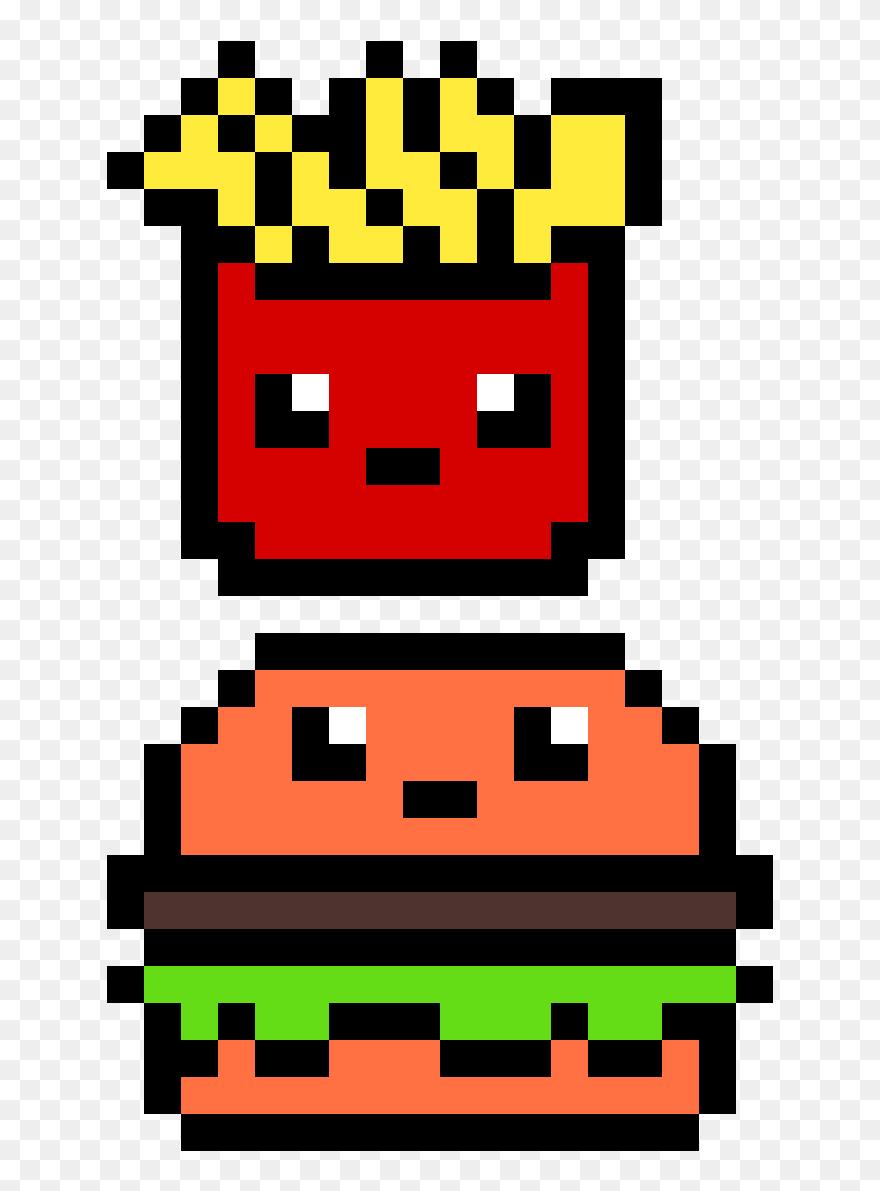 Transparent Comida Png Hamburger En Pixel Art Clipart 5223199 Pinclipart