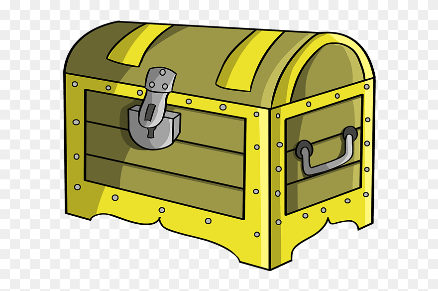 How To Draw Treasure Chest Draw A Treasure Chest Clipart 5225681 Pinclipart