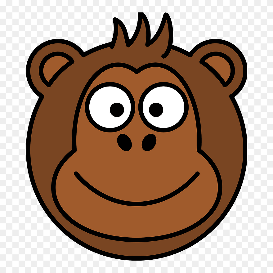Cartoon Monkey Face Clipart Monkey Head Clipart Png Download 5233674 Pinclipart