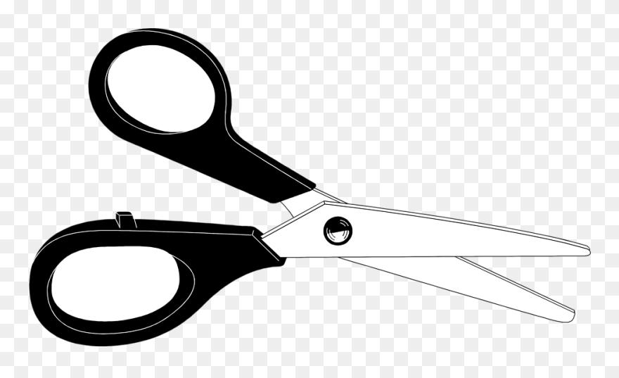 Scissors Clipart - Scissor Black And White, HD Png Download , Transparent  Png Image - PNGitem