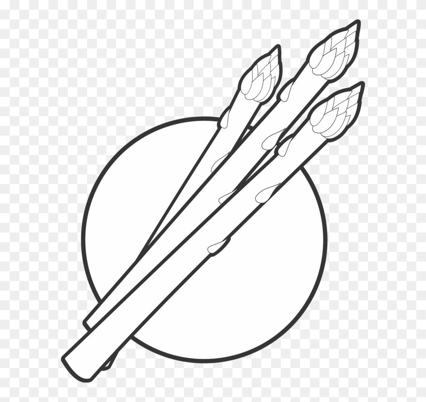 Asparagus Clipart Black And White Black And White Asparagus Png Download 5240387 Pinclipart