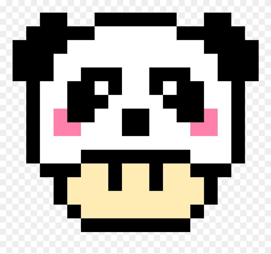 Panda Mario Mushroom Easy Pixel Art Mario Mushroom Clipart 5241982 Pinclipart