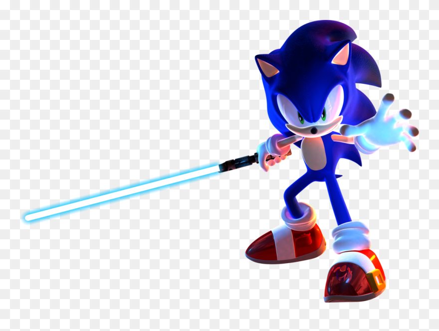 Sonic The Hedgehog Star Wars Jedi Knight Sonic With A Lightsaber Clipart 5242196 Pinclipart