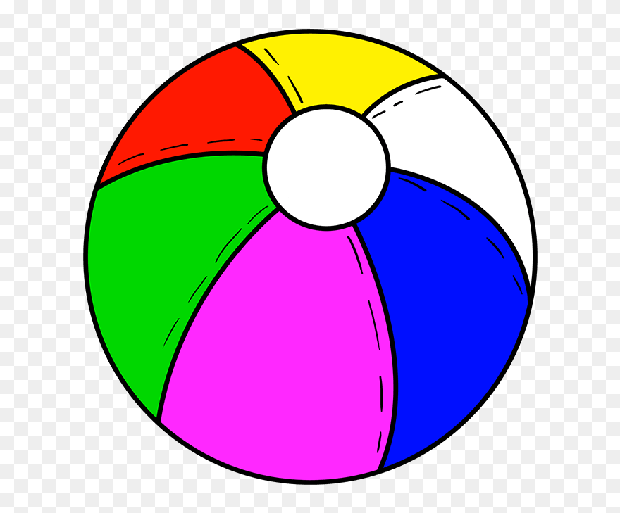 Download How To Draw Beach Ball - Beach Ball Drawing Easy ...