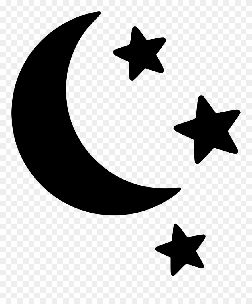 Moon Stars Svg Png Icon Free Download Moon And Star Silhouette Clipart 5245600 Pinclipart