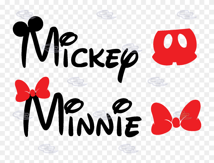 Mickey Pants Png Clipart Free Download Mickey And Minnie Name Transparent Png 5257113 Pinclipart
