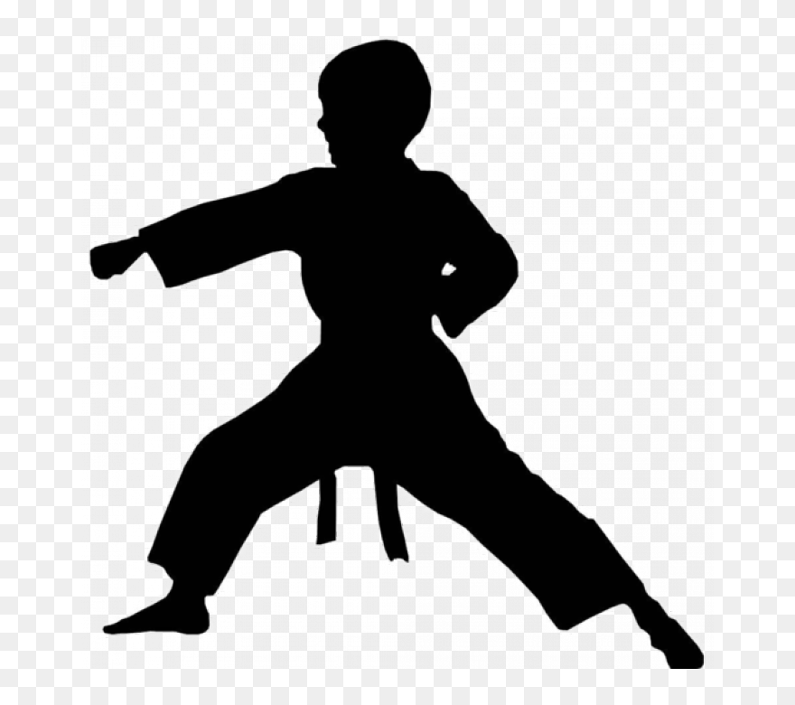 Transparent Karate Kid Silhouette Silhouette Singer Clipart Png Download 5282290 Pinclipart