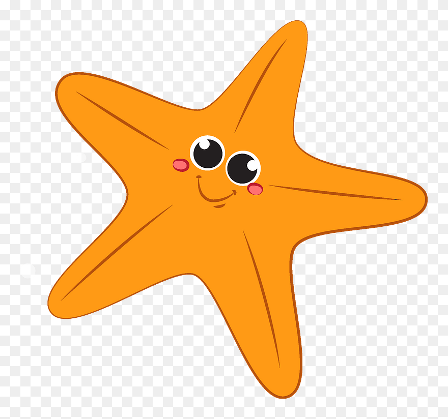Starfish Clipart Clip Art Star Fish Cartoon Png Download 5291845 Pinclipart