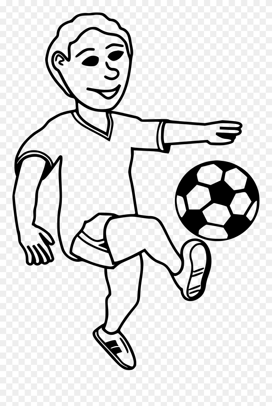Soccer Ball Clip Art Png Download Play Football Clipart Black And White Transparent Png 5292223 Pinclipart