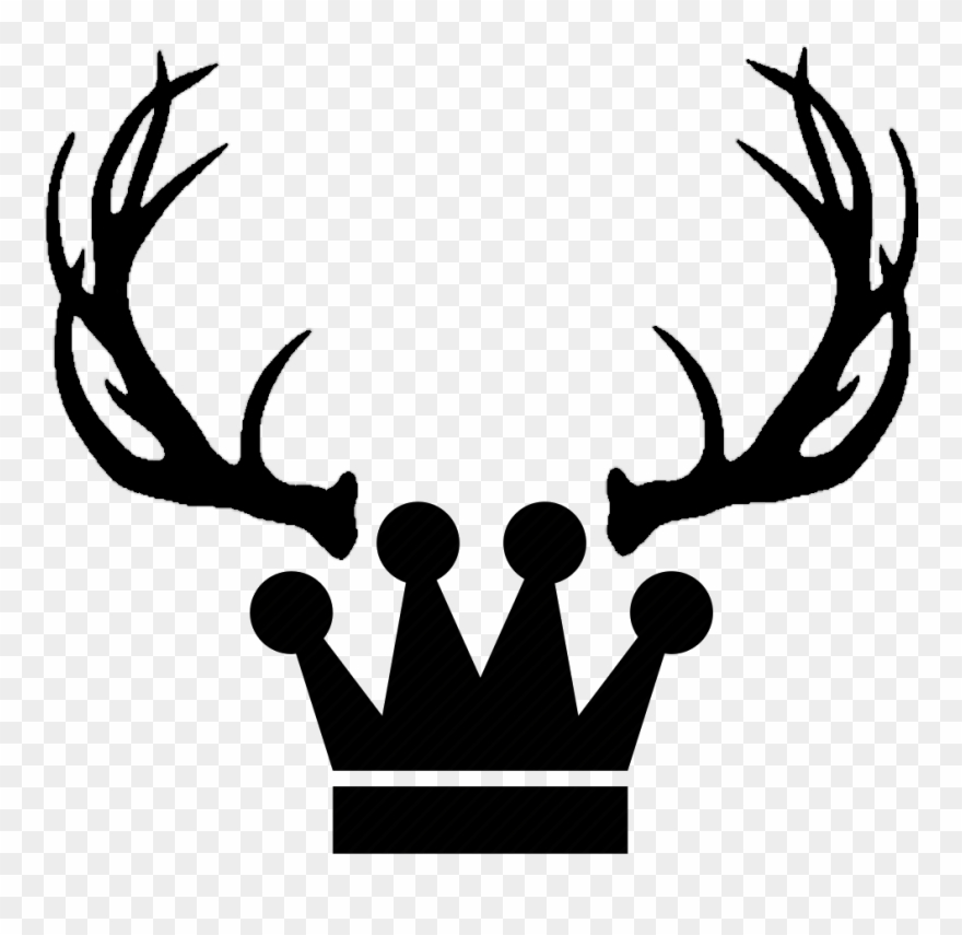 King Png Tumblr Clipart Free Library Deer Antlers Clipart Black