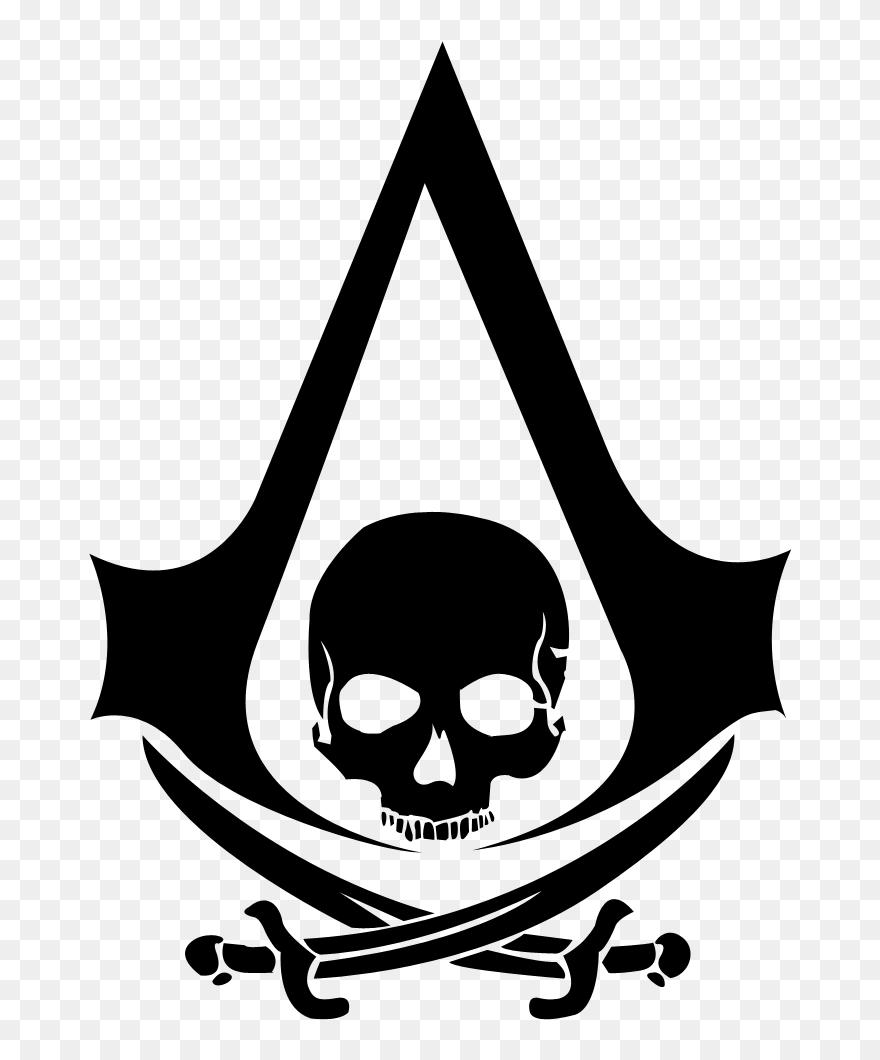 Silhouette Skull Origins Creed Iv Flag Black Assassin S Creed