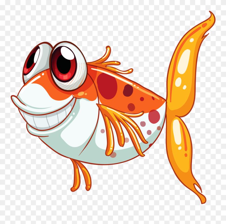 Download Smiling Fish Black Clipart Svg Transparent 4 Sea Life Cartoons Png Download 5333541 Pinclipart
