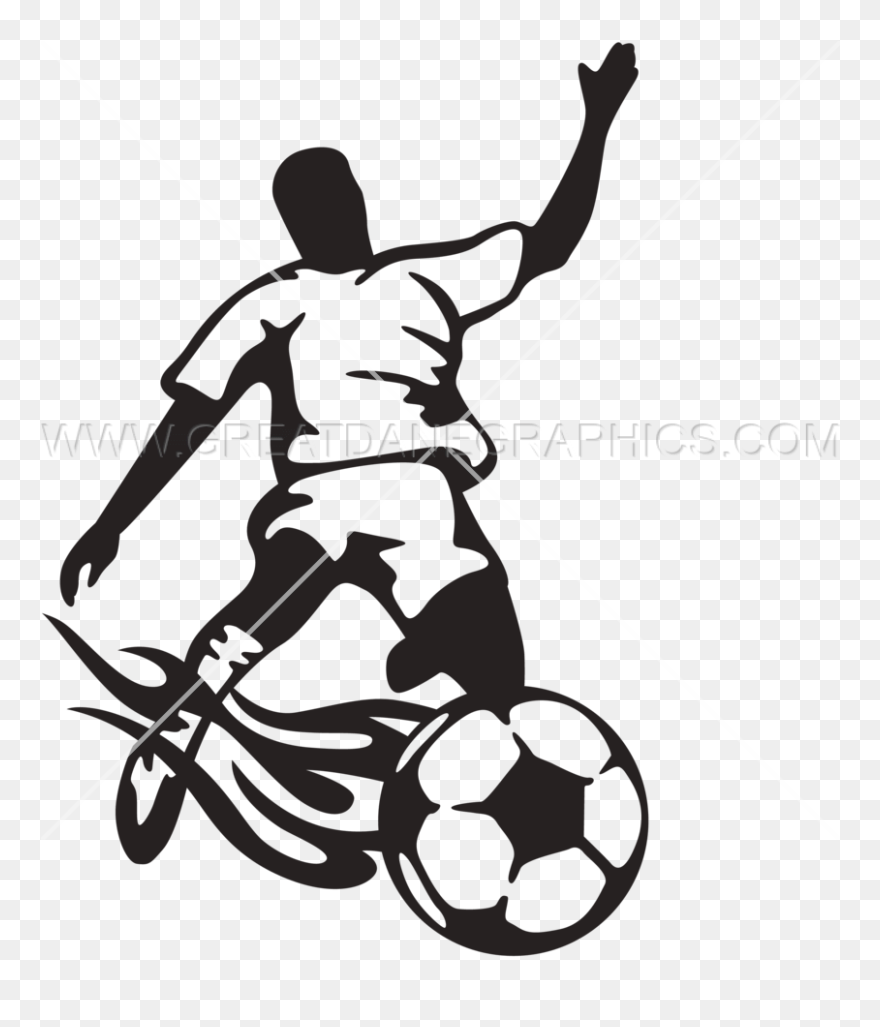 Kicking Football Clipart Png Black And White Download Transparent Png 5347302 Pinclipart