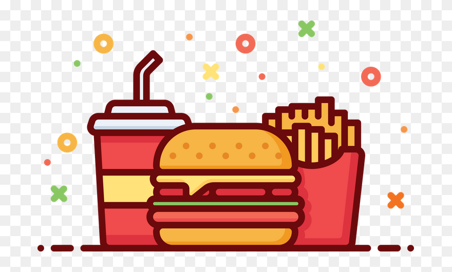 Hamburger French Fries Cheeseburger Clip Art Fast Food - Side Dish - Bubble  Transparent PNG
