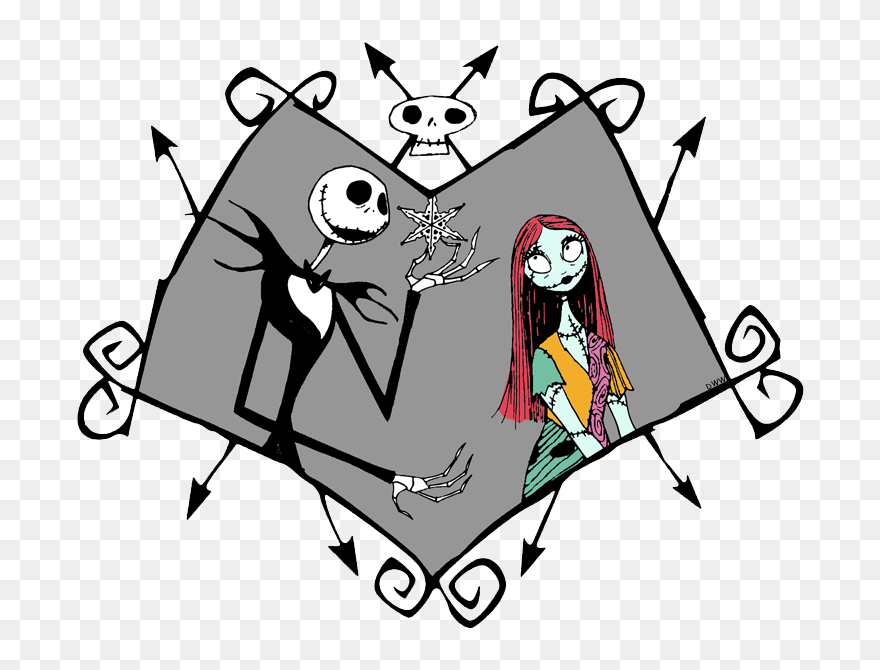 Nightmare Before Christmas Coloring Pages Mayor Of Nightmare Before Christmas Jack And Sally Clipart 5352349 Pinclipart