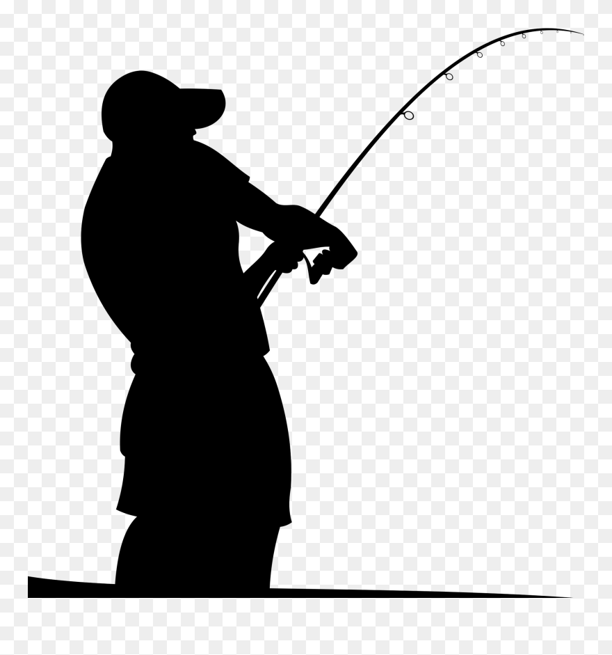 Fishing Rods Fisherman Silhouette Man Fishing In Boat Silhouette Clipart 5354927 Pinclipart