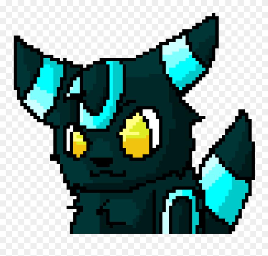 Umbreon Eevee Pixel Art Pokemon 1024 576 Transprent Pokemon Minecraft Pixel Art Clipart 5363884 Pinclipart