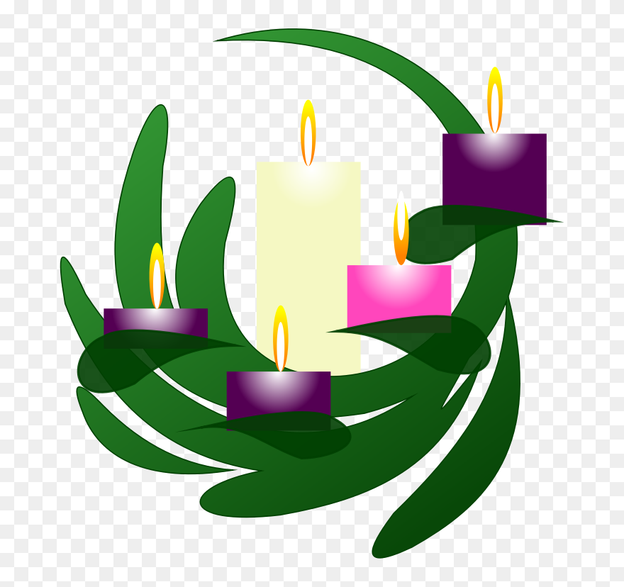 Advent 5 Christmas Eve Clip Art Advent Candles Png Download 5371248 Pinclipart