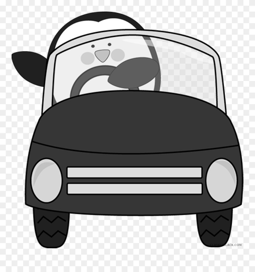 Family Car Clipart Black And White Clipart Library Cartoon Front Car Png Transparent Png 5382096 Pinclipart
