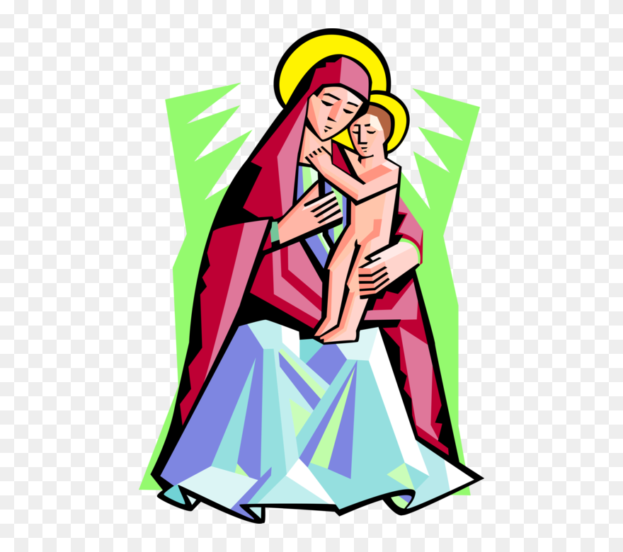 Image: Girl reach up to her mom whos holding her   Mothers Day Clip Art    Christart.com