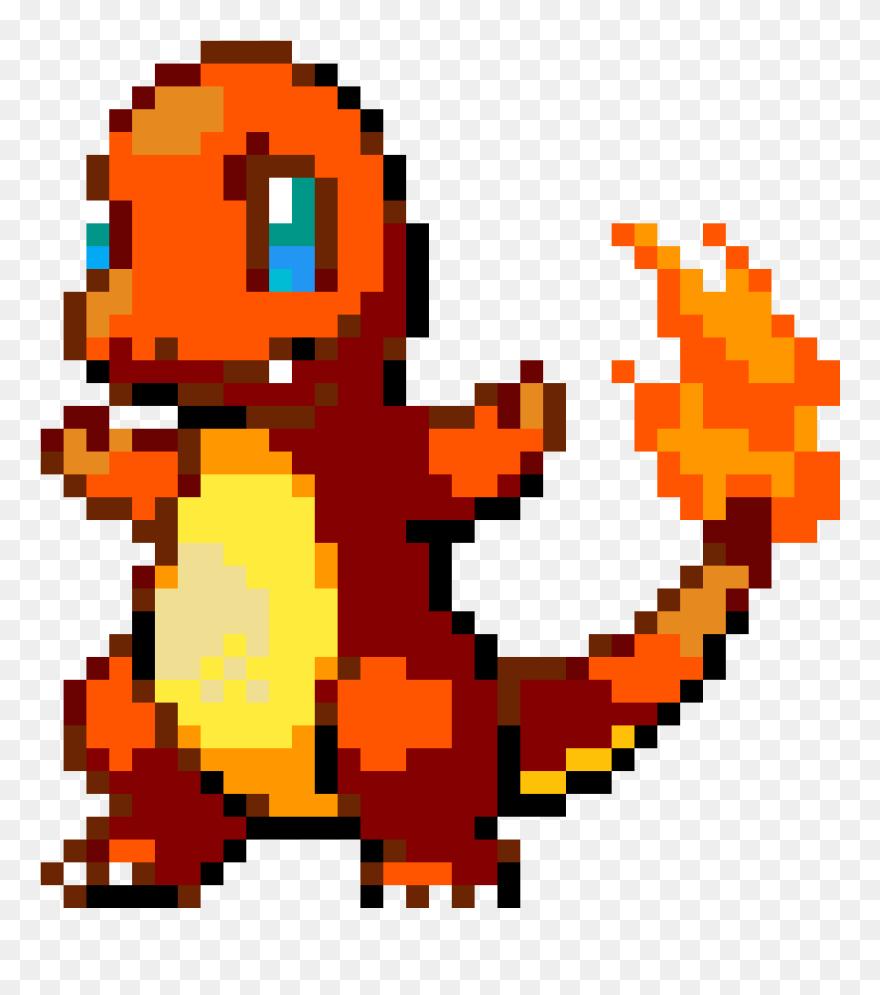 Charmander Pikachu Gif Pokemon Pixel Art Pixel Art Pokemon Charmander Clipart 5388288 Pinclipart
