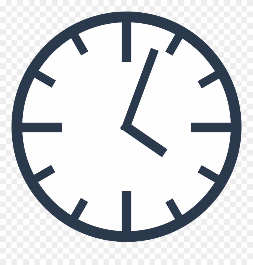 Clock transparent. Presenter information clip art