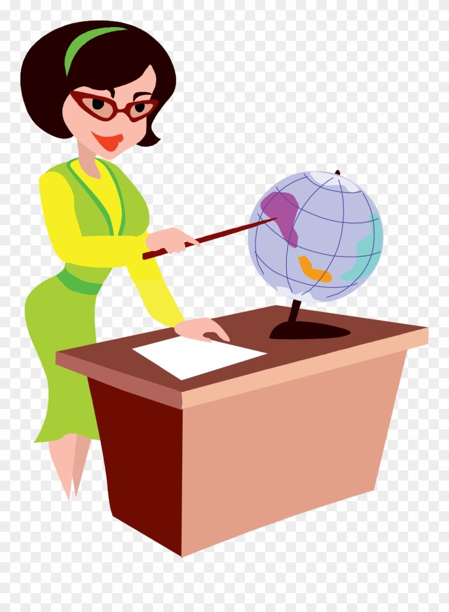 Animated teacher. Education school clip art