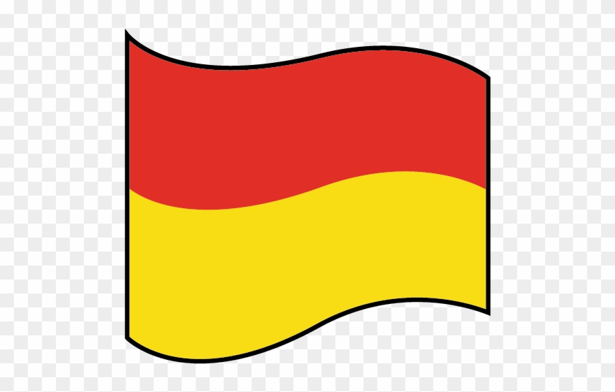 Flag yellow. Kl fm water red