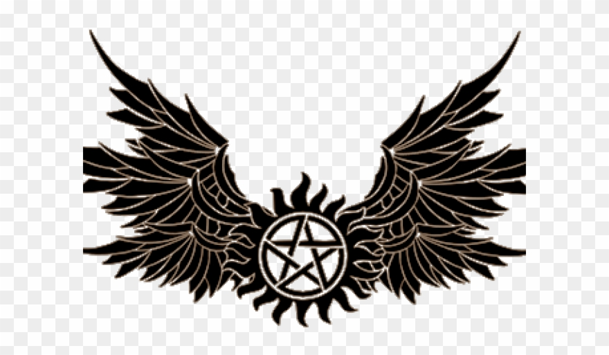 anti possession symbol png supernatural tattoo wings clipart (#) - pinclipart