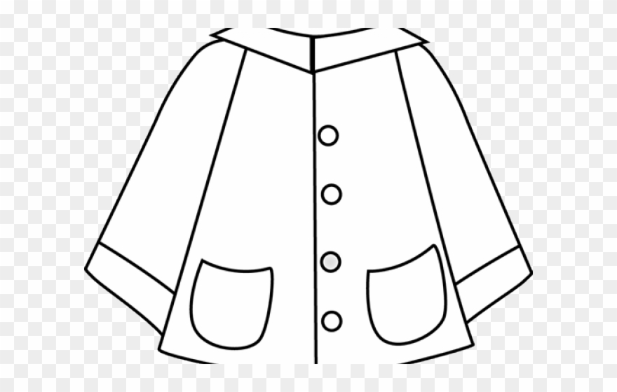 Spring Clipart Jacket - Rainy Day Clothes Clipart - Png