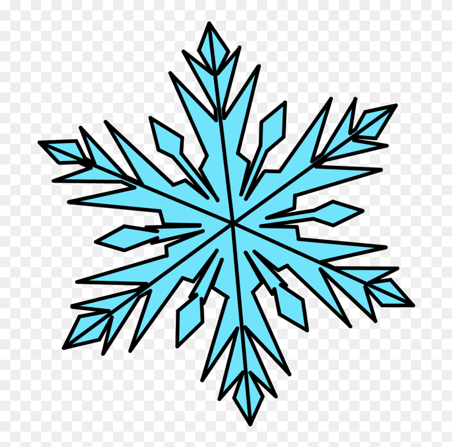 Snowflakes isolated on white background clipart Vector Image