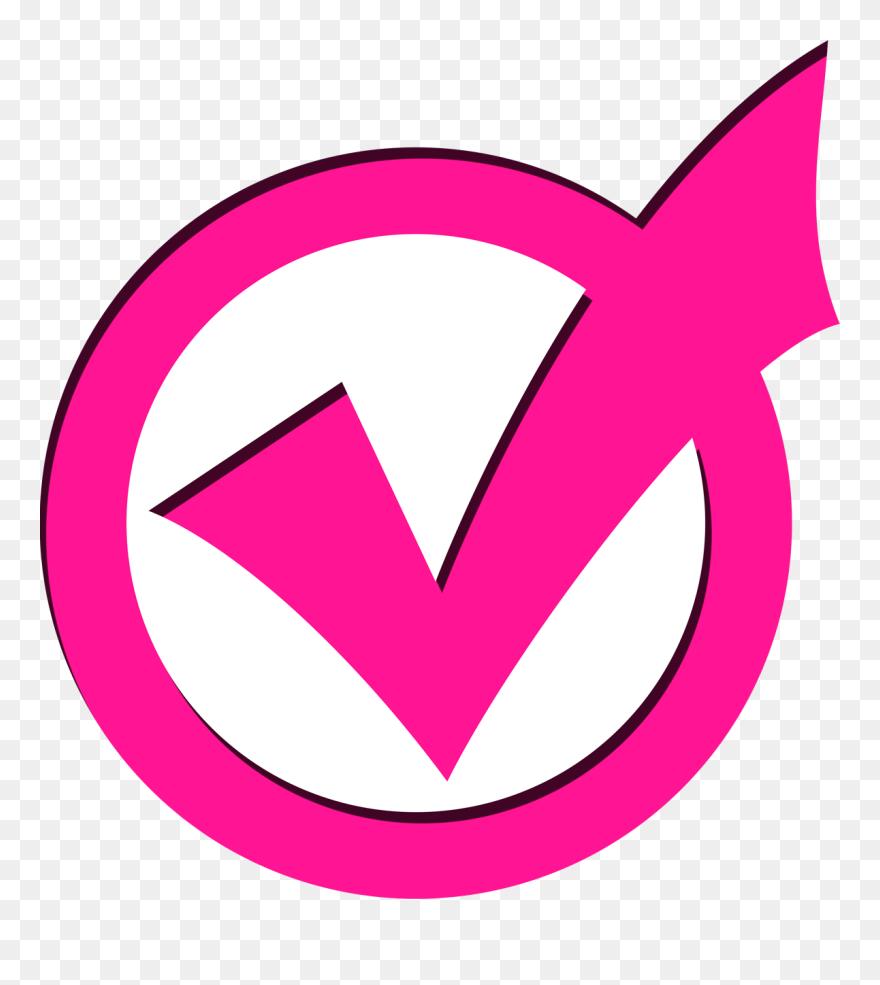 Pink-checkmark - Pink Check Mark Emoji Clipart (#5410029) - PinClipart