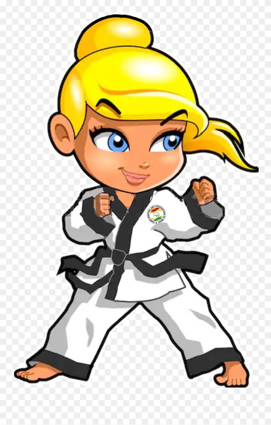 Tamo Martial Art Karate Girl Cartoon Drawing Clipart 5410463 Pinclipart