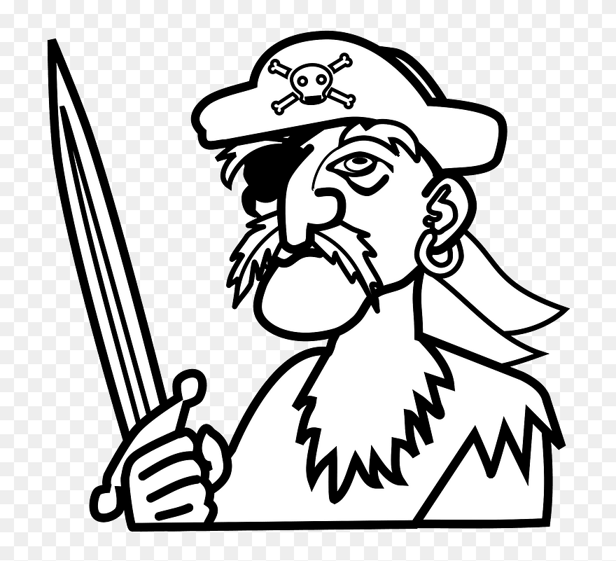 Pirate Clipart Pirate Line Art Png Download 5419152 Pinclipart