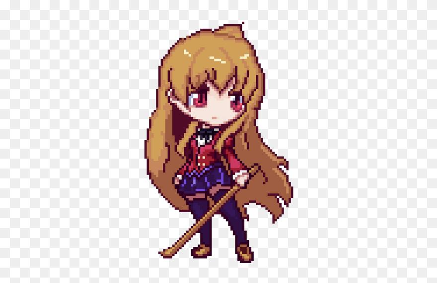 Anime Pixel Art Png Clipart 5428589 Pinclipart
