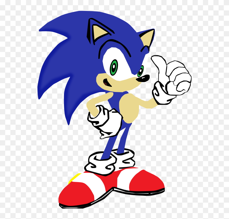My First Vector Of Sonic The Sonic Cartoon Characters Clipart 5436481 Pinclipart
